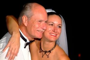 Joleen & Frank Sr. at her wedding (Nov 2005)