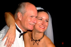 Joleen & Frank Sr. at her wedding (Nov 2005)
