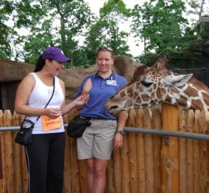 My reaction to feeding the giraffe!